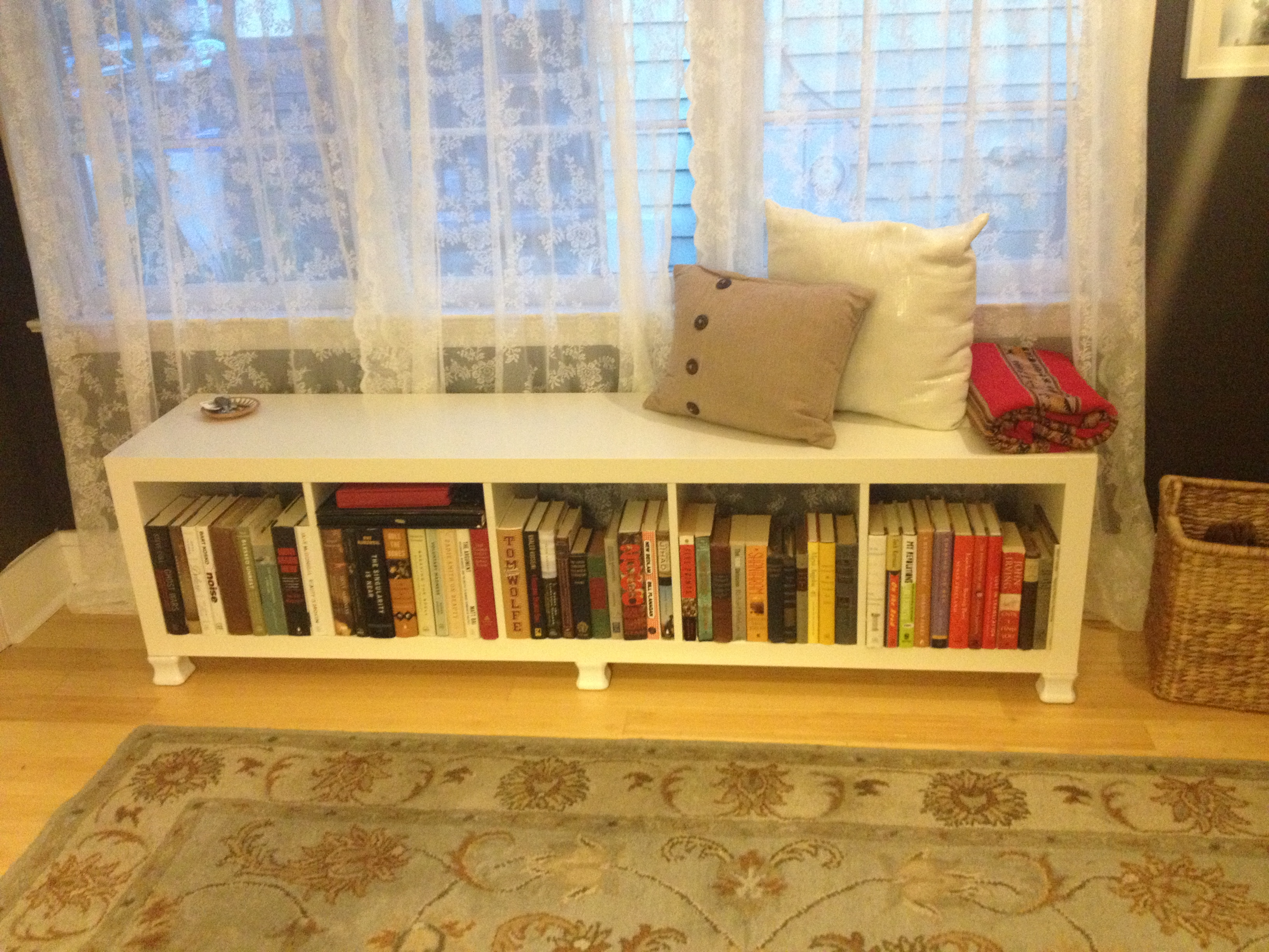 Benches out of expedit decoration news for Ikea shelf bench hack