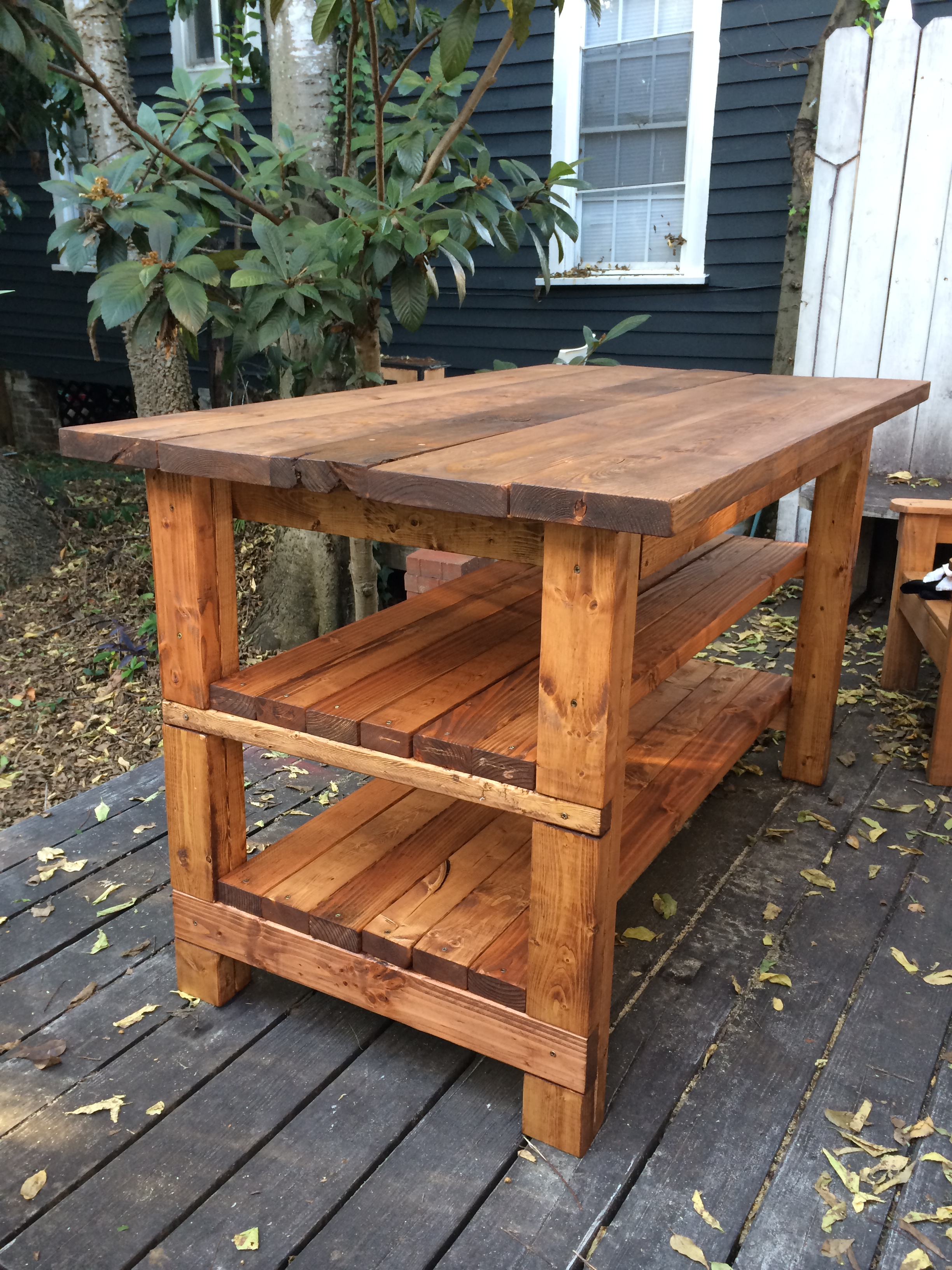 Rustic Kitchen Island Bench