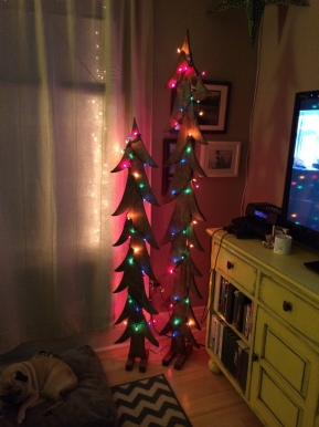 DIY Raw Wood Christmas Trees